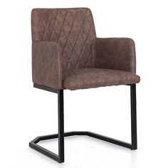 Hnedá stolička s opierkami Woodking Dino