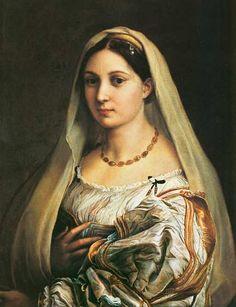 (Raphael) Raffaello Santi - The Veiled Woman, or La Donna Velata