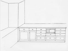 Kitchen  layout, viewing the living area. #thetreasuredhome