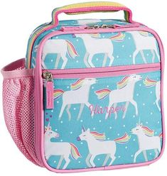 Stylishly designed and insulated to keep food fresh, our reusable lunch bag lets your child enjoy a healthful homemade meal when on the go. Pack Lunch Bags, Reusable Lunch Bags, Unicorn Water Bottle, Sequin Backpack, Rolling Backpack, Small Notebook, Metal Lunch Box, Barbie Stuff, Small Backpack