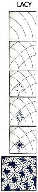 Life Imitates Doodles: Lacy: Non-official Zentangle/ZIA pattern step out Zentangle Drawings, Doodles Zentangles, Doodle Drawings, Easy Zentangle, Doodle Designs, Doodle Patterns, Zentangle Patterns, Tangle Doodle, Zen Doodle
