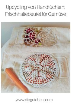 DIY: Gemüse bleibt frisch in diesen selbstgemachten Beuteln aus Stoffresten Handicraft, Upcycle, Blog, Sewing, Diy, Paper, Fabric Scraps, Upcycling Ideas, Pouch