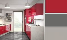 cuisine rouge et grise 25 belles ides dinspiration pinterest red interiors interiors and apartments