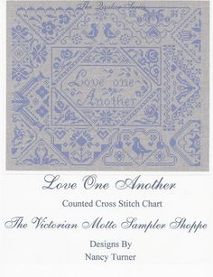 Quaker Love One Another Sampler Counted Cross Stitch Chart   eBay