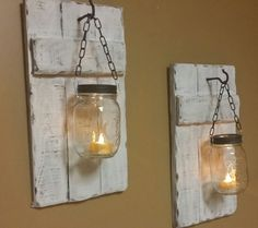 Distressed Candle Holder Rustic Candles Mason Jar Candle Holder Rustic Candles Price is for 1 each Mason Jar Candles Wood Candles Mason Jar Candle Holders, Rustic Candle Holders, Candle Holder Decor, Lantern Candle Holders, Mason Jar Candles, Mason Jar Lighting, Candle Lanterns, Small Lanterns, Rustic Lanterns