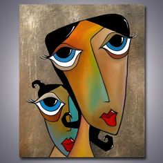 Art 'Unconditional' - by Thomas C. Fedro from Faces Easy Canvas Painting, Canvas Art, Portraits Cubistes, Cubist Art, Abstract Face Art, African Art Paintings, Arte Pop, Sculpture Art, Modern Art