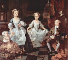 Los hijos del doctor Graham (1742), obra de William Hogarth