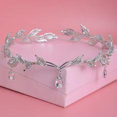Crystal Rhinestone Waterdrop Tiara FREE Shipping Worldwide http://fashjewels.de/crystal-crown-bridal-hair-accessory-wedding-rhinestone-waterdrop-leaf-tiara-crown-headband-frontlet-bridesmaid-hair-jewelry/