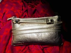 golden minibag on red scarf. Red Scarves, Clutch, Or Rose, Mini Bag, Bling, Silver, Gold, Bags, Handbags