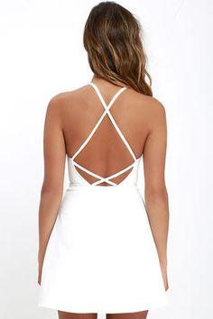 Soft Strumming Ivory A-Line Dress at Lulus.com!