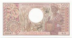 500 Francs CFA 1981 (afrikanisches Frauenportrait) Zentralafrikanische Republik Zweite Republik
