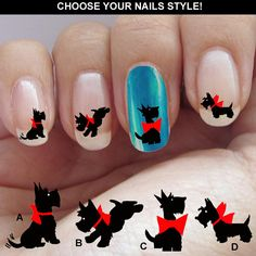 Scottish Terrier Terrier nail decal Waterslide di nailstarworld, $5.90