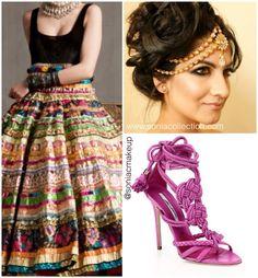 Modern Indian bridal look, 2016 Indian bride, #sangeet #garba #indianbride #bridalfashion2016 #soniacmakeup