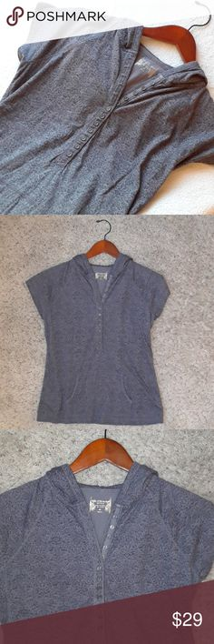 Ruff Hewn Hooded Half Button Shirt Super cute Ruff Hewn Hooded Shirt. Half Button and pockets in the front! 100% cotton! Perfect condition! 😁 Ruff Hewn Tops Sweatshirts & Hoodies