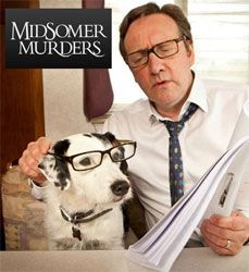 Midsomer Murders TV Star Sykes Gets New Bowl When TV star and dog actor, Sykes the Jack Russell terrier, needed a personalised dog bowl for his role in ITV's Midsomer Murders, Pinewood Studios contacted D for Dog. Famous Detectives, Tv Detectives, Mystery Show, Mystery Series, Best Tv Shows, Favorite Tv Shows, Radios, Midsomer Murders, Detective Series