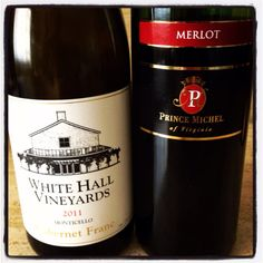 2011 White Hall Vineyards Cab Franc, Monticello (Virginia) and Prince Michel Merlot, Virginia