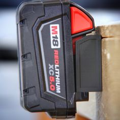 Milwaukee M18 M 18v Battery Adapter Dock Holder New Milwaukee Tools, Milwaukee M12, Van Organization, Organizing, Power Tool Storage, Van Storage, Off Work, Polypropylene Plastic, Dream Home Design