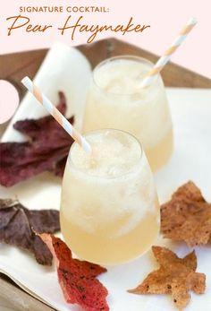 Signature Cocktail: Pear Haymaker - vodka, pear, ginger, lemon