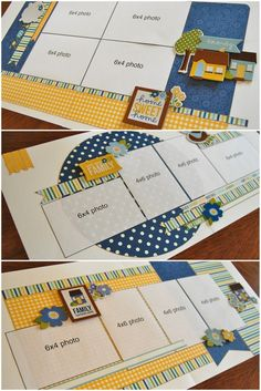 Scrapbook Generation - Debbie Sanders, obsessed with these layouts! Scrapbook Layout Sketches, Scrapbook Templates, Scrapbook Paper Crafts, Scrapbooking Layouts, Scrapbook Designs, Paper Crafting, Disney Scrapbook, Baby Scrapbook, Scrapbook Cards