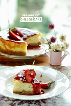Cheesecake with srawberry