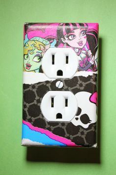 Monster High 3 piece Light Switch Plate and by ComicRecycled