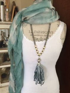 A personal favorite from my Etsy shop https://www.etsy.com/listing/222920139/sari-silk-gemstone-hand-knotted-blues