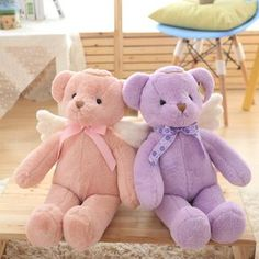 New Creative Knight Teddy Bear Angel Bear for Babies Soft Plush Toys Best Gifts Huge Teddy Bears, Giant Teddy Bear, Angel Bear, Turtle Plush, Disney Plush, Cute Stuffed Animals, Bear Doll, Baby Toys, Gifts For Kids
