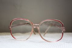 Vintage PEACHY KEEN peach glasses large frame 70s-80s, sold.