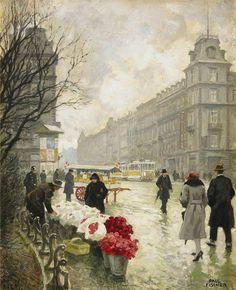 Paul Gustave Fischer - The Flower Market