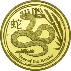 100 Dollar Gold Jahr der Schlange - 1 Unze PP