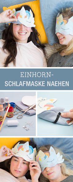 Nähanleitung für eine Einhorn-Schlafmaske, mit Schnittmuster / easy sewing tutorial for a unicorn sleeping maske via DaWanda.com