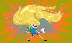 ADVENTURE TIME! Finns hair!!
