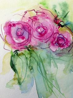 New Painting - Abstract Roses by Britta Zehm