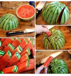 Easy way to cut watermelon for rehearsal dinner