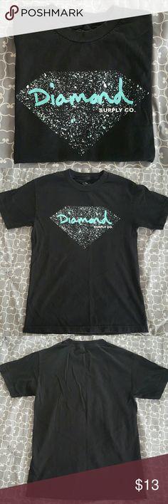 Diamond Supply Co. Men's size small Men's size small Diamond Supply Co. T-shirt. Slight fading to the black from washing. Diamond Supply Co. Shirts Tees - Short Sleeve