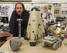 Bill Pearson reunited with a number of the original props used on Mooon.