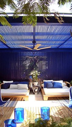 Outdoor living with BLUE
