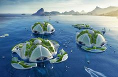 An architect has released stunning new designs for futuristic self-sustaining floating cities. Designed by Vincent Callebaut, 'Aequorea' is an underwater farm, recycling oceanic pollution into building materials to sustain the city. Vincent Callebaut, Image Paris, Underwater City, Paris Match, Plastic Waste, Futuristic Architecture, Architect Design, Monuments, Habitats