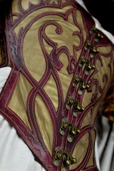 http://www.instructables.com/id/Leather-Lattice-Corset/