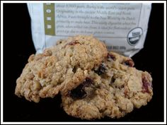 Oats and Barley Flour cookies ***** GREAT! (Choc chips rather than raisins)