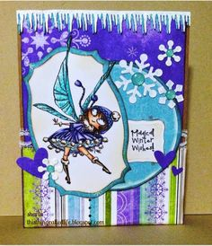 Winter Wishes, stamp is Pompom Fairy from Kraftin' Kimmie Stamps