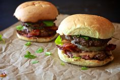 Thai Peanut Butter & Bacon Burger