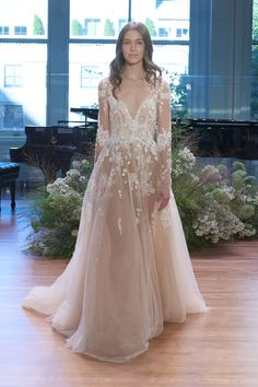 """Fall 2017 """"Rosemary"""" Wedding gown by Monique Lhuillier"""