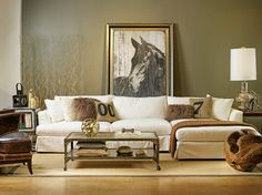 Andre Slipcover Sectional - Industrial Countryside Chic - eclectic - sofas - houston - High Fashion Home