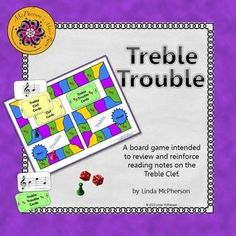 Looking for ways to help your elementary music students read notes on the Treble Clef? This board game is a perfect resource for your Orff and Kodaly classroom!  Divide students into groups of 3 and let them play! Excellent music resource!