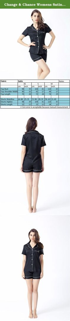 Change & Chance Womens Satin Sleepwear Short Sleeve Pajamas Sets with Pj Shorts. Features Silk Like, bright color,extra smooth,soft and comfortable. Luxury,gorgeous,elegant and charming. Top and shorts,cool in summer and beautiful. Our pajamas are good quality. Cares Better to wash by hand. Our Customer Satisfaction Money-Back Guarantee If you are not satisfied with the Change & Chance Womens Summer Satin Sleepwear Top and Shorts Sets Solid Color Home Clothes,just return it within 30 days...