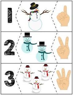 Teach counting skills with these snowmen! Great for teaching counting skills and number recognition for Quick prep and great for math centers! Numbers Preschool, Preschool Learning, Preschool Crafts, Teaching Kids, Preschool Prep, Christmas Math, Christmas Activities, Winter Activities, Autism Activities
