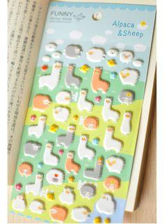 Korean Funny Sticker Alpaca Special Sheep Animal cute by homyhomy