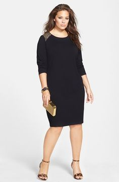 Vince Camuto Midi Shift Dress & Joie Sandal (Plus Size)  available at #Nordstrom