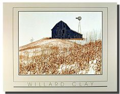 Winter Country Old Barn Willard Clay Scenery Wall Decor Silver Picture Framed Art Print Poster Frame Wall Decor, Framed Wall Art, Wall Art Decor, Or Mat, Landscape Walls, Landscape Posters, Barn Wood Frames, Poster Prints, Art Prints